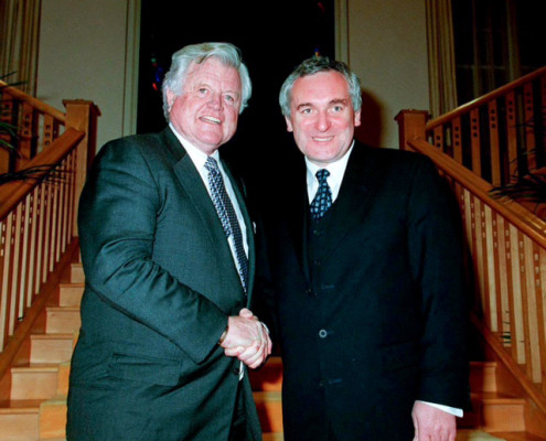 Ted Kennedy and Bertie Ahern