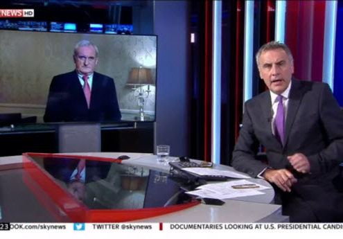 Bertie Ahern discussing Brexit on Sky News